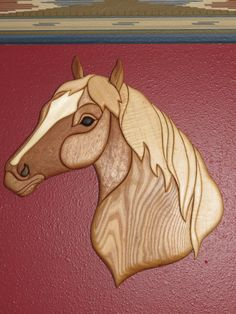 Wood Intarsia - Horse Head by Jeff Rundle - Arts by the Kickapoo