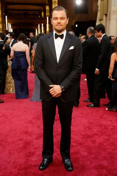 Pin for Later: See How Much Leonardo DiCaprio Has Changed Since His First Award Show Red Carpet Academy Awards, 2014