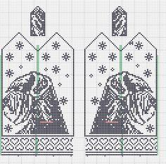 Knitting Patterns Free Dog, Knitted Mittens Pattern, Crochet Amigurumi Free Patterns, Knit Mittens, Knitting Charts, Knitting Socks, Knitting Stitches, Cross Stitch Charts, Cross Stitch Patterns