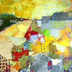 """Extrinsecus 13 by Jylian Gustlin - Landscape series  48""""x48""""  #mixed_media #art"""