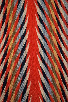 Early 19thc Assomption Sash or Cienture Flechee - 'Eastern Woodland Indians' of Canada.
