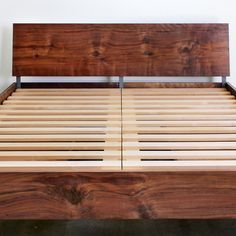 chadhaus | loft bed with storage. Comes in light wood/ beech colour too. slim storge
