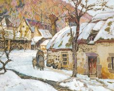 "Victor Charreton ~  ""Neige aux environs de Murols"""
