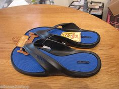Men's Panama Jack flip flops sandals thongs black cushion XL 12-13 12/13 NEW NWT