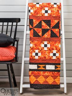 This project is featured in Autumn 2020 Quilter's World magazine. Fall Harvest, Autumn, Star Blocks, Modern Farmhouse Style, All Design, Ladder Decor, Quilts, Holiday, Quilt
