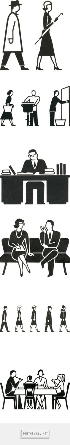 Isotype, pictogramme by Gerd Arntz (Germany, 1900-1988)