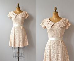 Honeylane dress  blush lace 1960s dress  vintage 60s by DearGolden, $158.00