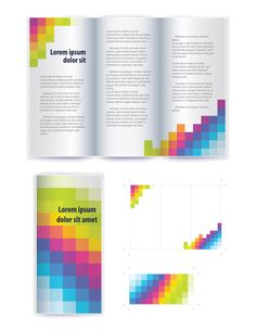Business brochure cover vector set 01