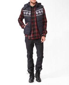 Forever 21 is the authority on fashion & the go-to retailer for the latest trends, styles & the hottest deals. Shop dresses, tops, tees, leggings & more! 21men, Puffer Vest, Motorcycle Jacket, Latest Trends, Forever 21, Winter Jackets, Leggings, Man Shop, My Style