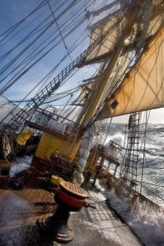 My favorite contemporary tall ship - the Bark EUROPA. I'm following her adventures on Facebook. She takes passengers...