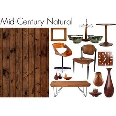 """""""Mid Century Natural"""" by nonamecatvintage on Polyvore"""