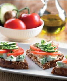 Avocado Tzatziki & Tomato Toast recipe from SuperValue