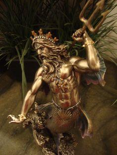 Poseidon Neptune Greek Sea God Statue Holding Trident Roman Figurine Scupture for sale online Italian Statues, Greek Statues, Greek God Sculptures, Poseidon Statue, Greek Pantheon, Statue Tattoo, Roman Gods, Horse Sculpture, Angels