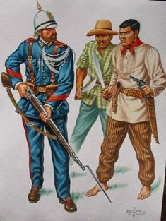 Military Uniforms, Military Art, Filipino, Philippines Outfit, Philippine Army, Army History, Lead Adventure, The Spanish American War, Barong