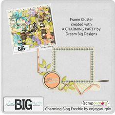 Scrapbooking TammyTags -- TT - Designer - Dream Big Designs,  TT - Item - Frame, TT - Style - Cluster