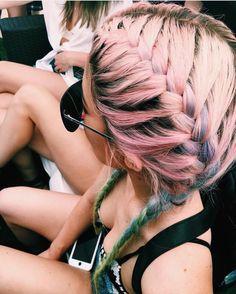 Kylie Jenner - rainbow braids coachella day 2