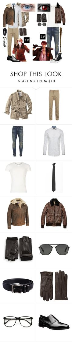 """1p & 2p America//hetalia"" by gglloyd ❤ liked on Polyvore featuring TravelSmith, Lacoste, Scotch & Soda, Versace, Lardini, Wilsons Leather, John Varvatos * U.S.A., Prada, Florsheim and Cole Haan"