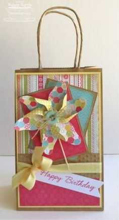 Birthday Gift Bag by mrupple - Cards and Paper Crafts at Splitcoaststampers