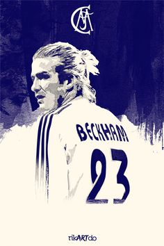 List of Best Manchester United Wallpapers Beckham Football Posters by Ricardo Mondragon, via Behance First Football, Football Love, Best Football Players, Football Is Life, Football Art, Football Posters, Sports Posters, Real Madrid Wallpapers, Sports Wallpapers
