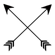 Friendship symbolized by crossed arrows.