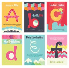 Christian Kids Scripture Art Prints, ABC's of God, 5x7 and 11x17 Posters on Etsy, $40.00
