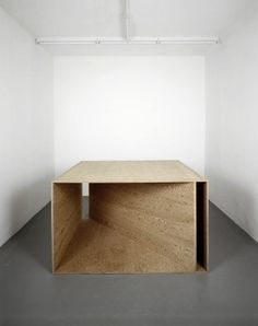 clickbytaste: a-beautifulchaos: Donald Judd / plywood