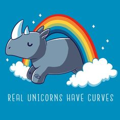 Real Unicorns Have Curves T-Shirt TeeTurtle