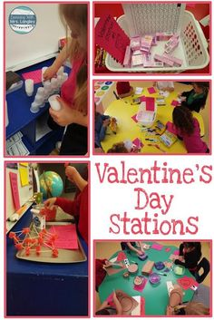 These kindergarten Valentine's Day party ideas are fun activities full of crafts, art, books, snack, and fun! Teachers and students alike will love these fun center rotation ideas and it will help you get through a painless Valentine's Day! #kindergartencenters #kindergartenclassroom
