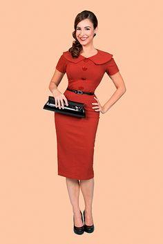 Rita BETTIE PAGE Retro Fifties Pencil Dress (R) | atomretro.com