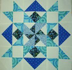 https://flic.kr/p/8ty94y | p and b Star Sampler Quilt Along Block 9 | I gotta make another!!!!   Tutorial here:    picklesandbacon.blogspot.com/2010/08/star-sampler-block-9...  OR HERE:  www.quiltingboard.com/tutorials-f10/rhondas-easy-way-piec...