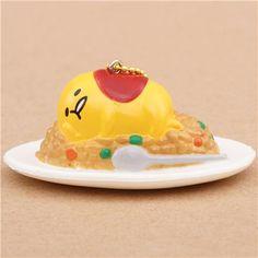 funny Gudetama egg yolk on food squishy charm kawaii 1