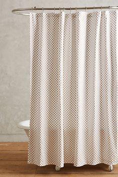 Master bath: Metallic Pixel Shower Curtain #anthropologie