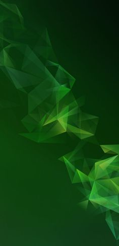 Official Wallpaper 10 of 15 for Samsung Galaxy S9 and Samsung Galaxy S9+ with Dark Green Polygons