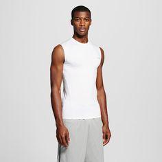 Men's Sleeveless Powercore Compression Shirt - C9 Champion - White Xxl, True White