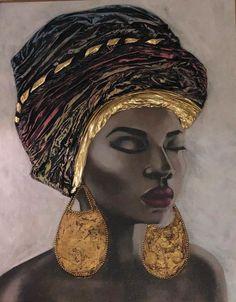 icu ~ Pin auf Afro art ~ 29 simple & elegant diy home decor ideas 18 ⋆ All About Home Decor Black Girl Art, Black Women Art, Art Girl, Arte Black, Afrique Art, African Art Paintings, Creation Art, African American Artist, American Artists