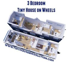Adorbs Tiny Homes 3 Bedroom Tiny House on Wheels Tyni House, Tiny House Living, House Floor, Tiny House Family, Living Room, Tiny House Movement, Tiny House On Wheels, Small House Plans, Design Despace