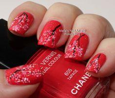 Marias Nail Art and Polish Blog: Tapage cherry blossom nail art