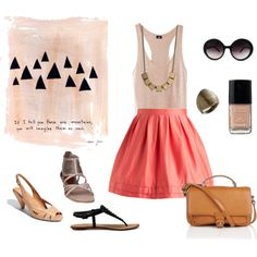 I just wish I could pull this stuff off.  I am loving the nude colors with coral/salmon/poppy