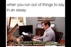 I'm all of my paper for college