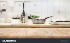 Wood table top on blur kitchen room background For montage product display or design key visual layout Creative Icon, Kitchen Photos, Wood Table, Blur, Icon Design, Product Display, Create Yourself, Photo Editing, Layout