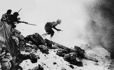 Australian troops approach a German-held strong point under the protection of a heavy smoke screen somewhere in the Western Desert, in Northern Africa on November 27, 1942. (AP Photo)  Australian troops fighting with the British 8th Army made heroic contributions to Allied campaigns in North Africa, Crete, Greece and the Italian Campaign. According to the official Australian history of World War Two, 9,572 Australians were killed in action fighting against Nazi Germany.