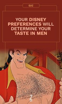 Are you more of a Gaston girl or an Aladdin lady? Take our personality quiz to find out how your Disney preferences determine your taste in men!