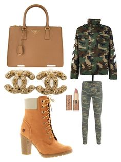 """""""Untitled #92"""" by adrianna-nicole-smith on Polyvore featuring MSGM, True Religion, Timberland, tarte, Prada and Chanel"""
