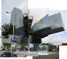 Gas Natural Offices in Barcelona by Miralles & Tagliabue Skyscraper, Barcelona, Multi Story Building, Layout, Nature, Offices, Image, Core, Sketch