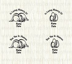 Personalized Memorial Baby Decal, Twin Memorial Decal, Stillbirth, Miscarriage,Angel Wings Memorial