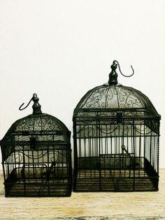 Vintage Bird Cage,Wedding Decor,Distressed Decor,Boho, Rustic,French Home Decor,Organizer,Storage,Shabby Chic