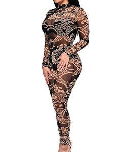 ffc2d1a7488 Description Product Name  2016 Women Sheer Mesh Sexy Jumpsuit Plus Size  Long Sleeve Black Floral Printed Bodysuit Slim Bodycon Jumpsuit Bodysuits  Item Code  ...