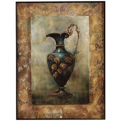 Bassett Mirror Old World Grecian Urn I Canvas Frame Art