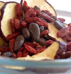 Organic Apple Goji Berry Cacao Bean Dried by HillarysSuperfoods