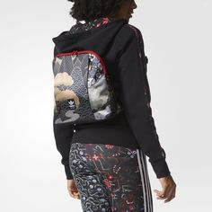adidas - Sac à dos Asian Arena Black Kimono Design, Traditional Kimono, Obi Belt, Japanese Geisha, Adidas, Girls Out, Sportswear, Backpacks, Bags